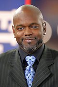 GLENDALE, AZ - JANUARY 8:  Emmitt Smith smiles on the set of the FOX Sports television pregame show rehearsal at the Ohio State Buckeyes game against the Florida Gators at the 2007 Tostitos BCS National Championship Game at the University of Phoenix Stadium on January 8, 2007 in Glendale, Arizona. The Gators defeated the Buckeyes 41-14. ©Paul Anthony Spinelli *** Local Caption *** Emmitt Smith