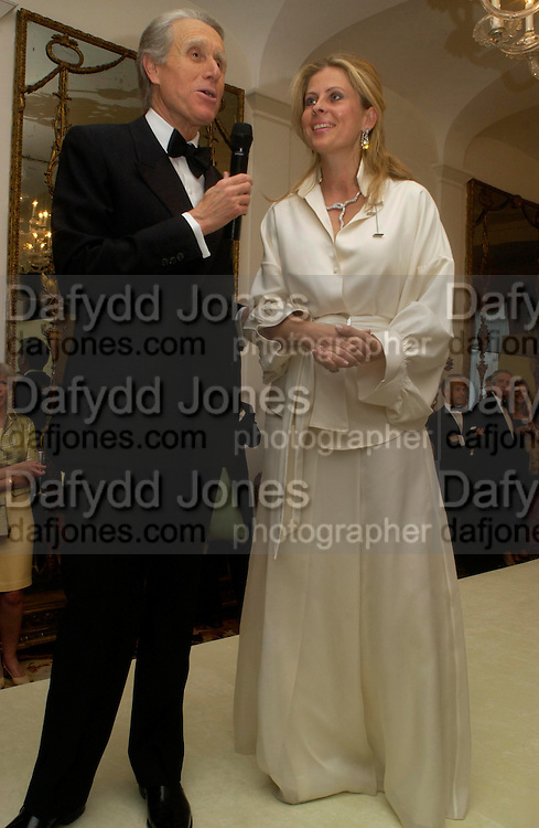 The Ambassador of Italy and Lady Forte , An Evening in honour of Salvatore Ferragamo hosted by the Ambassador of Italy. The Italian Embassy, 4 Grosvenor Square. London W1. 8 June 2005. ONE TIME USE ONLY - DO NOT ARCHIVE  © Copyright Photograph by Dafydd Jones 66 Stockwell Park Rd. London SW9 0DA Tel 020 7733 0108 www.dafjones.com