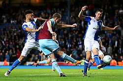 Burnley's Chris Wood fires a shot at goal  - Mandatory by-line: Matt McNulty/JMP - 23/08/2017 - FOOTBALL - Ewood Park - Blackburn, England - Blackburn Rovers v Burnley - Carabao Cup - Second Round