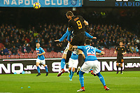 Gol Edin Dzeko Roma 1-2 goal celebration <br /> Napoli 03-03-2018  Stadio San Paolo <br /> Football Campionato Serie A 2017/2018 <br /> Napoli - AS Roma<br /> Foto Gino Mancini / Insidefoto