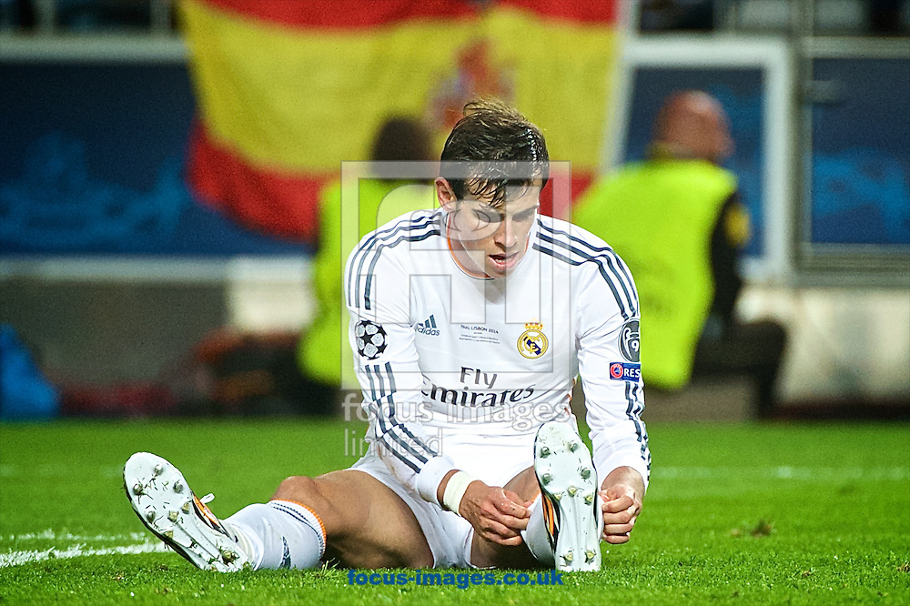 Gareth Bale of Real Madrid is disappointed after missing a chance during the UEFA Champions League Final at Est&aacute;dio da Luz, Lisbon<br /> Picture by Ian Wadkins/Focus Images Ltd +44 7877 568959<br /> 24/05/2014