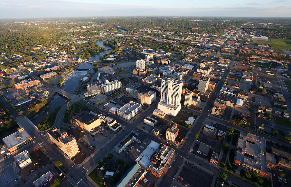 Downtown South Bend, Indiana..Photo by Matt Cashore