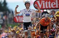 Sykkel<br /> Tour de France 2010<br /> 11.07.2010<br /> Foto: PhotoNews/Digitalsport<br /> NORWAY ONLY<br /> <br /> ANDY SCHLECK<br /> <br /> STAGE RIT ETAPE 8 : STATION DES ROUSSES - MORZINE AVORIAZ