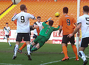 United keeper Josh Donaldson denies |DFC\'s Sean Gallacher - Dundee United v Dundee under19s - Little Big Shot Scottish Youth Cup at Tannadice<br /> <br />  - &copy; David Young - www.davidyoungphoto.co.uk - email: davidyoungphoto@gmail.com