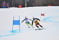 SANTACANA MAIZTEGUI Yon Guide: GALINDO GARCES Miguel, B2, ESP at 2018 World Para Alpine Skiing Cup, Kranjska Gora, Slovenia