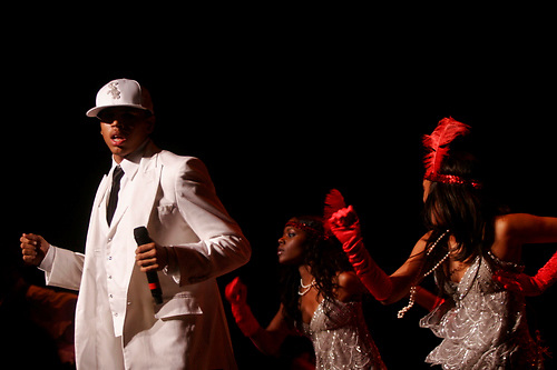 Chris Brown performing during the Up Close and Personal Tour on August 26, 2006 at Jones Beach..