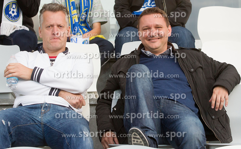 Matjaz Zmuc and Tomaz Ambrozic during football match between NK Maribor and NK Celje in final of Slovenian Cup 2013 on May 29, 2013 in Stadium Bonifika, Koper, Slovenia. Maribor defeated Celje 1-0 and became Slovenian Cup Champion 2013. (Photo By Vid Ponikvar / Sportida)