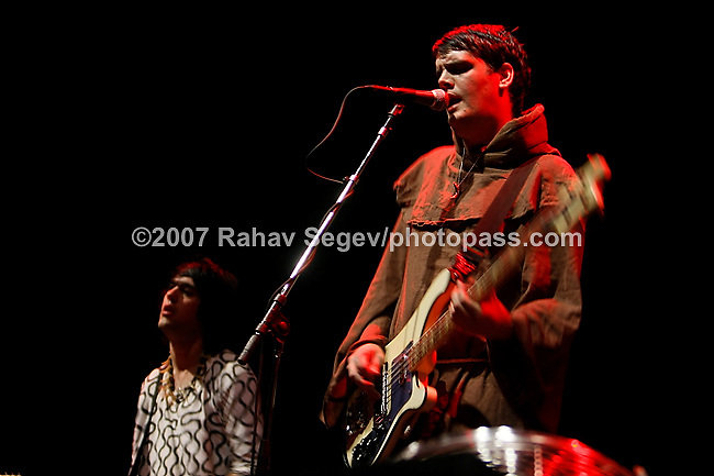 The Klaxons performing at Madison Square Garden on September 24, 2007.