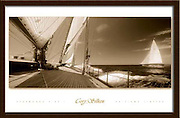 Starboard Side I poster<br /> 24&quot;x38&quot;<br /> Onboard Eleonora with Velsheda in the background