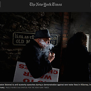 """Screengrab of """"Many in Ireland Vow Not to Pay a New Water Tax"""" published in The New York Times"""