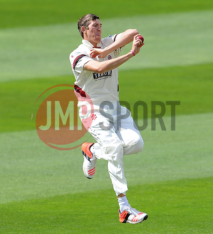 Somerset's Craig Overton. Photo mandatory by-line: Harry Trump/JMP - Mobile: 07966 386802 - 09/05/15 - SPORT - CRICKET - Somerset v New Zealand - Day 2- The County Ground, Taunton, England.