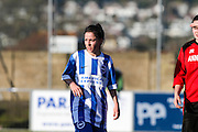 Charlotte Owen portrait taken during the FA Women's Sussex Challenge Cup semi-final match between Brighton Ladies and Hassocks Ladies FC at Culver Road, Lancing, United Kingdom on 15 February 2015. Photo by Geoff Penn.