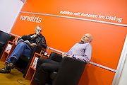 Buchmesse Frankfurt, biggest book fair in the World. Guenter Walraff at Vorwaerts Verlag,