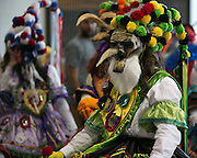 Numerous masks and costumes were on display at Barakoa: The African Masquerade event at RIT on Sunday, April 26, 2015.