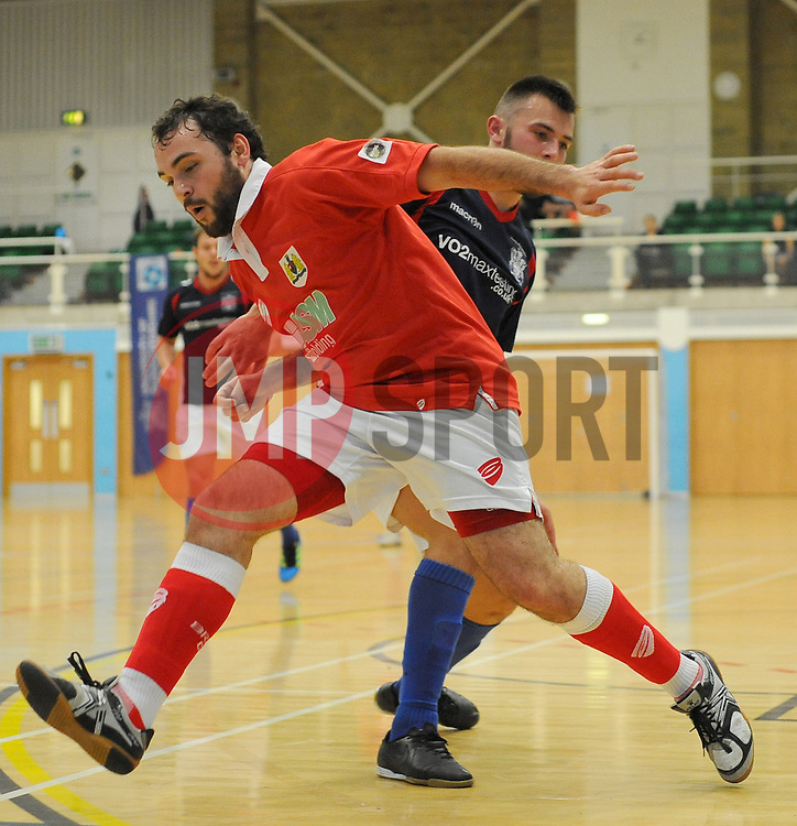 Bristol City Futsal attempt a shot at goal. - Photo mandatory by-line: Nizaam Jones - Mobile: 07583 387221 - 02/11/2014 - SPORT - Futsal - Gloucester - Gloucester University - v BCFC Futsal- Sport