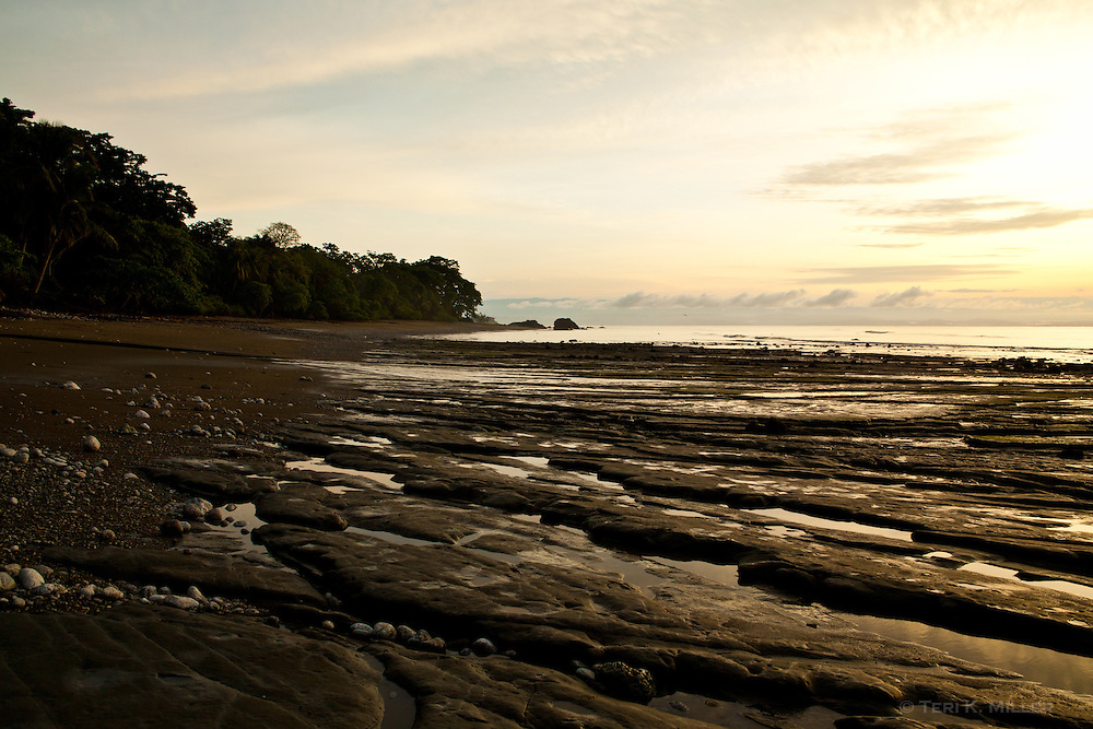 Sunrise over Playa Carbonera at Lapa Rios Ecolodge, Osa Peninsula, Costa Rica