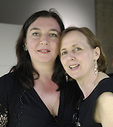 ANN BERNI; .JANE ALISON, The Surreal House Barbican art gallery afterwards SURREAL DINNER at Hoxton hall. London. 9 June 2010. -DO NOT ARCHIVE-© Copyright Photograph by Dafydd Jones. 248 Clapham Rd. London SW9 0PZ. Tel 0207 820 0771. www.dafjones.com.
