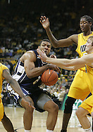 24 JANUARY 2007: Penn State forward Jamelle Cornley (2) tries to control the ball in Iowa's 79-63 win over Penn State at Carver-Hawkeye Arena in Iowa City, Iowa on January 24, 2007.