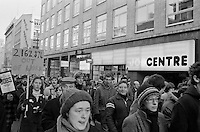 March against unemployment, Liverpool. Unemployment rocketed under the Thatcher Government. 29-11-1980