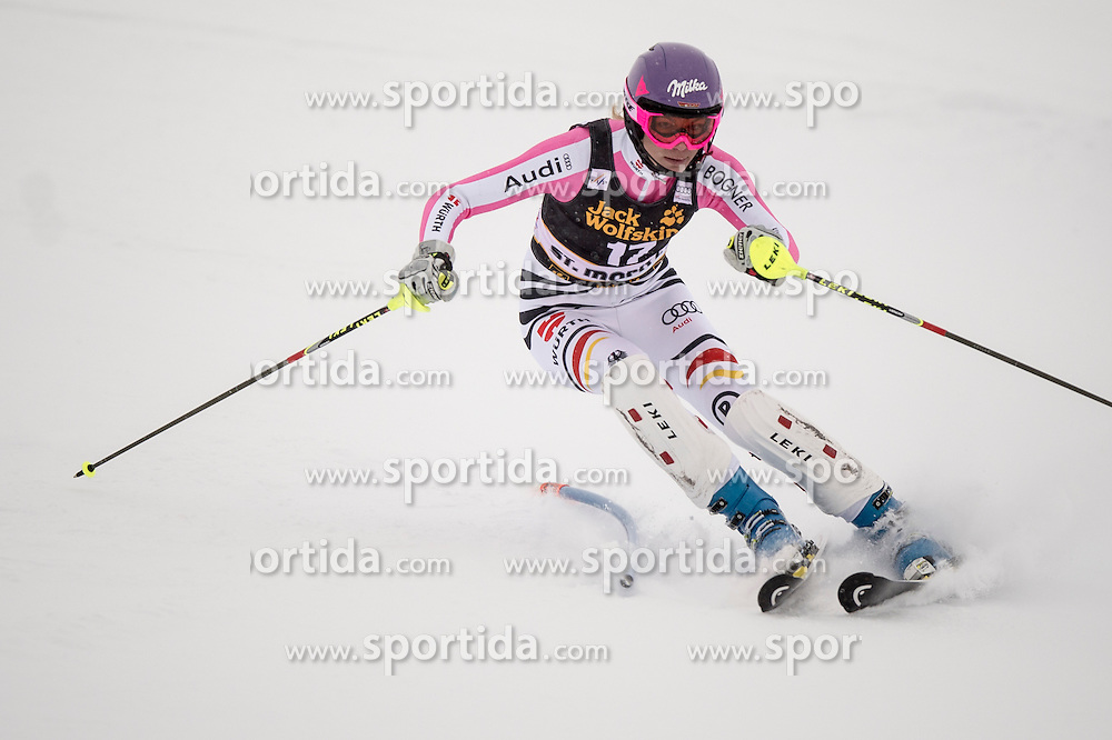 07.12.2012, Engiadina Rennstrecke, St. Moritz, SUI, FIS Ski Alpin Weltcup, Super Combination, Damen, Slalom, im Bild Maria Hoefl-Riesch in action // during Slalom of ladies Super Combined of FIS ski alpine world cup at the Engiadina course, St. Moritz, Switzerland on 2012/12/07. EXPA Pictures © 2012, PhotoCredit: EXPA/ Newspix/ Dawid Markysz..***** ATTENTION - for AUT, SLO, CRO, SRB, BIH, TUR, SUI and SWE only *****