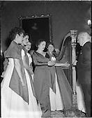 1956 -  Festival singers entertain President Sean T. O'Kelly at Aras an Uachtarain.