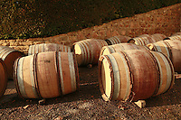Domaine du Vissoux, Beaujolais.wine barrels yet to be filled..September 16, 2007..Photo by Owen Franken for the NY Times.