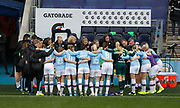 Manchester City Women players before the FA Women's Super League match between Manchester City Women and West Ham United Women at the Sport City Academy Stadium, Manchester, United Kingdom on 17 November 2019.