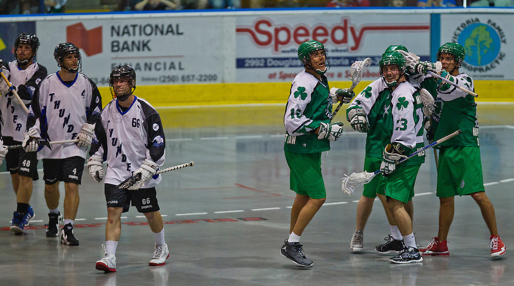 Victoria Shamrocks fall to the Langley Thunder  11-6 in Lacrosse action July 12, 2013 Photo - Kevin Light Photography