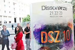 Dissonanze 10 - Ara Pacis - Rome , people and laser live performance