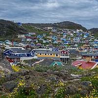 Qaqortoq, Greenland is the fourth largest town in Greenland.  The population is about 3,300 people.  Qaqortoq was formerly named Julianehab.
