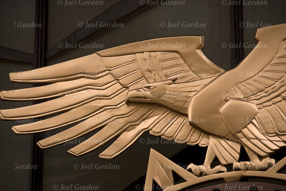 Art Deco Bronze Eagle on side of building