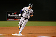 PHOENIX, AZ - JUNE 08:  Corey Dickerson #10 of the Tampa Bay Rays rounds third base after hitting a solo home run against the Arizona Diamondbacks during the first inning at Chase Field on June 8, 2016 in Phoenix, Arizona. The Tampa Bay Rays won 8-6.  (Photo by Jennifer Stewart/Getty Images)