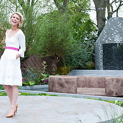 London, UK - 20 May 2013: Actress Emilia Fox launches the B&Q Sentebale Garden during the RHS Chelsea Flower Show 2013 edition press day.