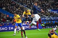 Patrice EVRA / Raphael VARANE - 26.03.2015 - France / Bresil - Match Amical<br />Photo : Dave Winter / Icon Sport