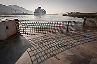 Celebrity Cruise ship from airport ferry, Ketchikan, Alaska