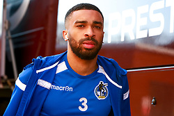 Tareiq Holmes-Dennis of Bristol Rovers makes his way to the Aesseal New York Stadium - Mandatory by-line: Ryan Crockett/JMP - 18/01/2020 - FOOTBALL - Aesseal New York Stadium - Rotherham, England - Rotherham United v Bristol Rovers - Sky Bet League One