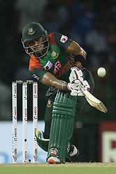 March 18, 2018 - Colombo, Sri Lanka - Bangladesh batsman Sabbir Rahman plays a shot during the final Twenty-20 cricket match of NIDAHAS Trophy  between Bangladesh and India at R Premadasa cricket ground, Colombo, Sri Lanka on Sunday 18 March 2018. (Credit Image: © Tharaka Basnayaka/NurPhoto via ZUMA Press)