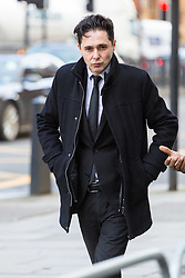 Julian Manea, 36, outside Westminster Magistrates Court in London where he faces allegations of stalking Veronica Bisquert and sharing 'revenge porn'. Westminster Magistrates Court, London, February 15 2018.