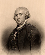 Joseph Black (1728-1799) Scottish chemist, born in Bordeaux, France, son of a wine merchant. Professor chemistry at Glasgow University. In 1757 he isolated carbon dioxide. Evolved the theory of latent heat.  Engraving from 'A Biographical Dictionary of Eminent Scotsmen' by Thomas Thomson (1870).