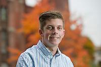 Ryan C senior portrait session at Belknap Mill Laconia, NH.  ©2016 Karen Bobotas Photographer