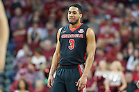 FAYETTEVILLE, AR - MARCH 4:  Juwan Parker #3 of the Georgia Bulldogs looks over the offense during a game against the Arkansas Razorbacks at Bud Walton Arena on March, 2017 in Fayetteville, Arkansas.  The Razorbacks defeated the Bulldogs 85-67.  (Photo by Wesley Hitt/Getty Images) *** Local Caption *** Juwan Parker