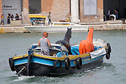 "A performance by ""www.animal-art.it"" on Canale Grande."