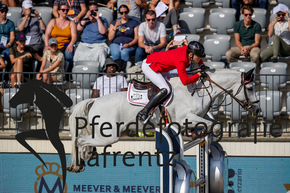 KUEHNER Max (AUT), CHARDONNAY 79<br /> Rotterdam - Europameisterschaft Dressur, Springen und Para-Dressur 2019<br /> Longines FEI Jumping European Championship - 1st part - speed competition against the clock<br /> 1. Runde Zeitspringen<br /> 21. August 2019<br /> © www.sportfotos-lafrentz.de/Stefan Lafrentz