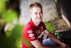 Portrait of Jan Tratnik, Slovenian cyclist, who currently rides for UCI WorldTeam Bahrain–Merida. on July 31, 2019 in Idrija, Slovenia. Photo by Peter Podobnik / Sportida