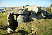 Le Trepied burial chamber Guernsey Channel Islands