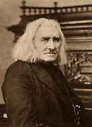 Franz Liszt (1811-1886) Hungarian pianist and composer in later life. Photogravure after a photograph by W & D Downey, London.