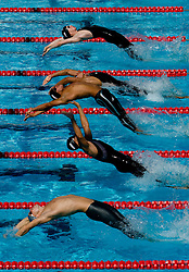 Athletes competes during Men's  50m Breaststroke Heats during the 13th FINA World Championships Roma 2009, on August 1, 2009, at the Stadio del Nuoto,  in Foro Italico, Rome, Italy. (Photo by Vid Ponikvar / Sportida)