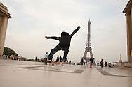 France. Paris. 16th district. Trocadero esplanade, / Parvis des droits de l Homme place du Tocadero