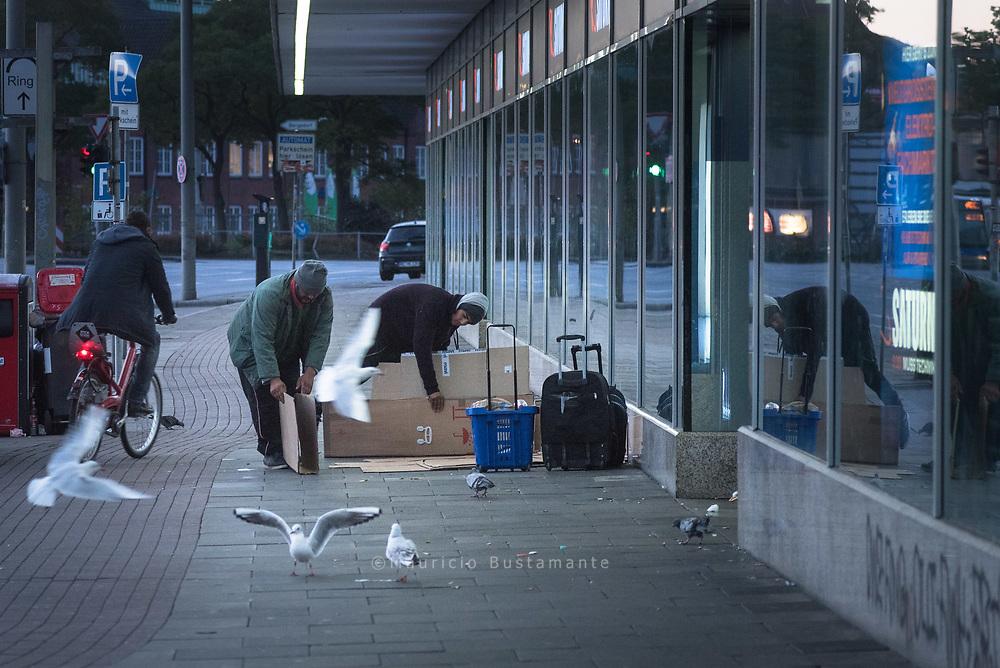 Obdachlos im Herbst