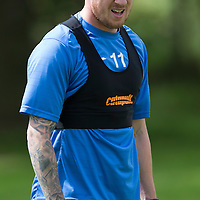 St Johnstone FC Training….Danny Swanson pictured during pre-season training.<br />Picture by Graeme Hart.<br />Copyright Perthshire Picture Agency<br />Tel: 01738 623350  Mobile: 07990 594431